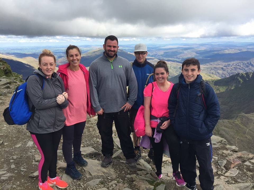 Liverpool cleaners climbing Snowdon